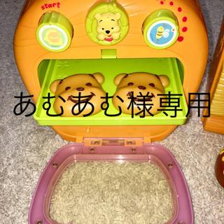 ディズニー(Disney)のプーさんの電子レンジと冷蔵庫セット(おもちゃ/雑貨)