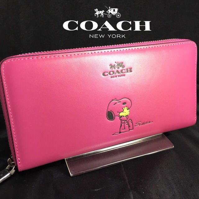 529b438edcc5 COACH - 限定セール❣ 新品コーチ×スヌーピー長財布ピンク ラウンド ...
