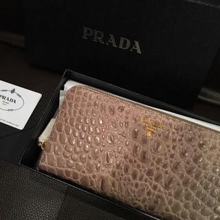 プラダ(PRADA)のXmasセール 新品未使用 PRADA 長財布 クロコダイル(財布)
