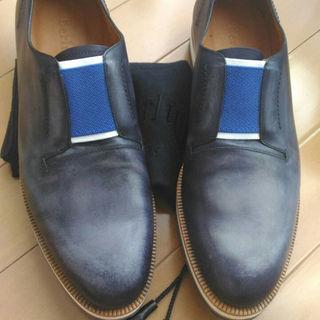 ベルルッティ(Berluti)の訳ありBerlutiベルルッティAlessioレイジー靴8スニーカー新品(スリッポン/モカシン)