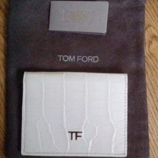 トムフォード(TOM FORD)のトムフォード Tom Ford クロコ ワニ革 カード 名刺入れ 財布 未使用新(名刺入れ/定期入れ)