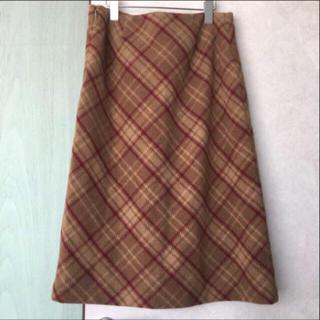 ロキエ(Lochie)の値下げ vintage ウール スカート バージンメリー ガイジン(ひざ丈スカート)