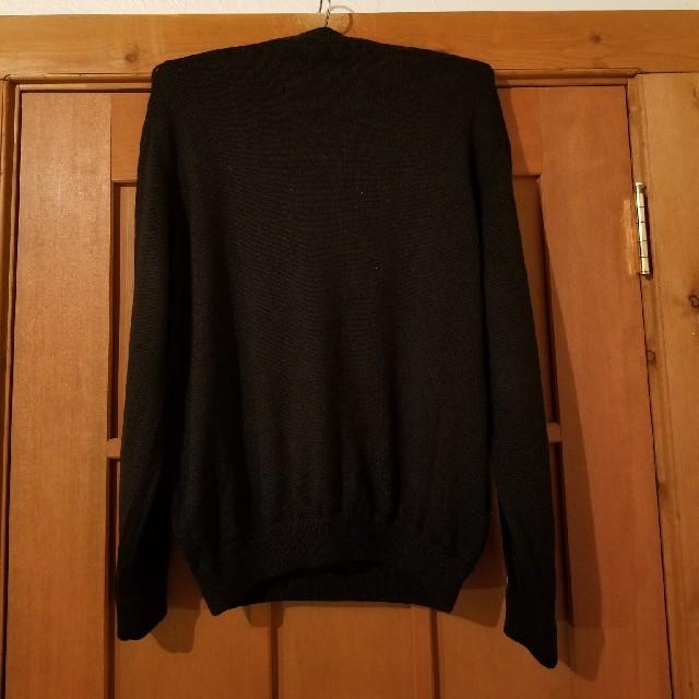Giorgio Armani(ジョルジオアルマーニ)の専用です。ウール黒Vネックニット セーター美品 メンズのトップス(ニット/セーター)の商品写真