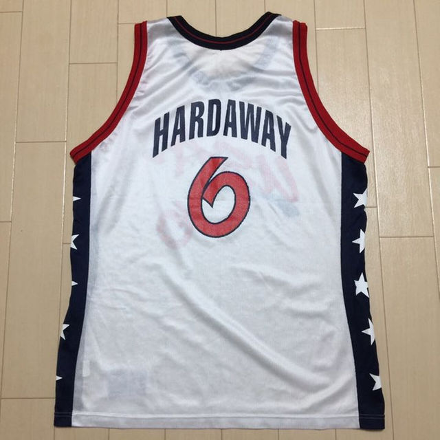 Champion(チャンピオン)の#1520 NBA USA ドリームチーム ハーダウェイ ユニフォーム 6 白 メンズのトップス(タンクトップ)の商品写真