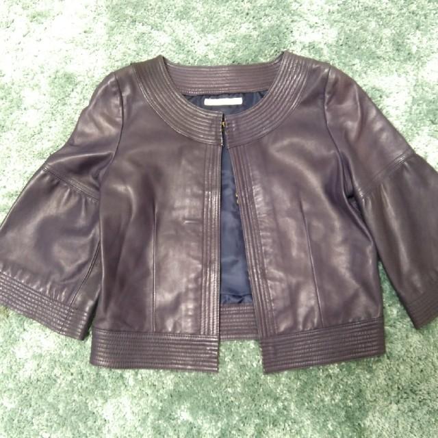 DouDou(ドゥドゥ)の美品DOUDOU羊革ジャケット レディースのジャケット/アウター(ノーカラージャケット)の商品写真