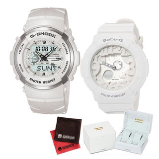 ジーショック(G-SHOCK)のCASIO ペア ウォッチ 時計 G-SHOCK ホワイト 恋人 カップル(腕時計(デジタル))