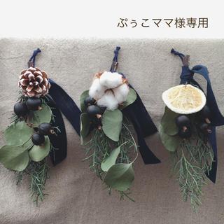 【ぷぅこママ様専用】cool・クリスマススワッグ・ミニ3点セット(ドライフラワー)