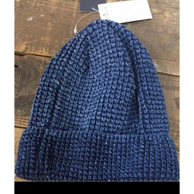 RAGEBLUE(レイジブルー)のレイジブルー ニット帽 インディゴ メンズの帽子(ニット帽/ビーニー)の商品写真