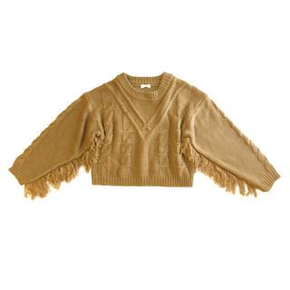 アーバンボビー(URBANBOBBY)のmeer. Cable fringe knit(ニット/セーター)