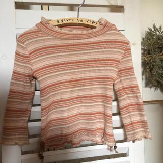 ビケット(Biquette)の最終値下❣️美品✨Biquetteビケット♡ボーダー♡長袖カットソー♡90✨(Tシャツ/カットソー)