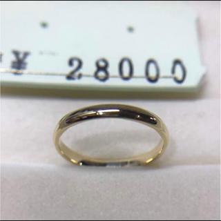 . K18 新品 男女兼用  15号 リング プレゼントにも 安心の日本製(リング(指輪))