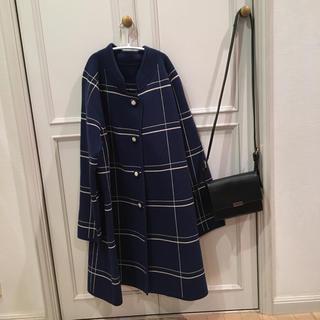 ロキエ(Lochie)のきょんさま専用 青チェックコート(ノーカラージャケット)