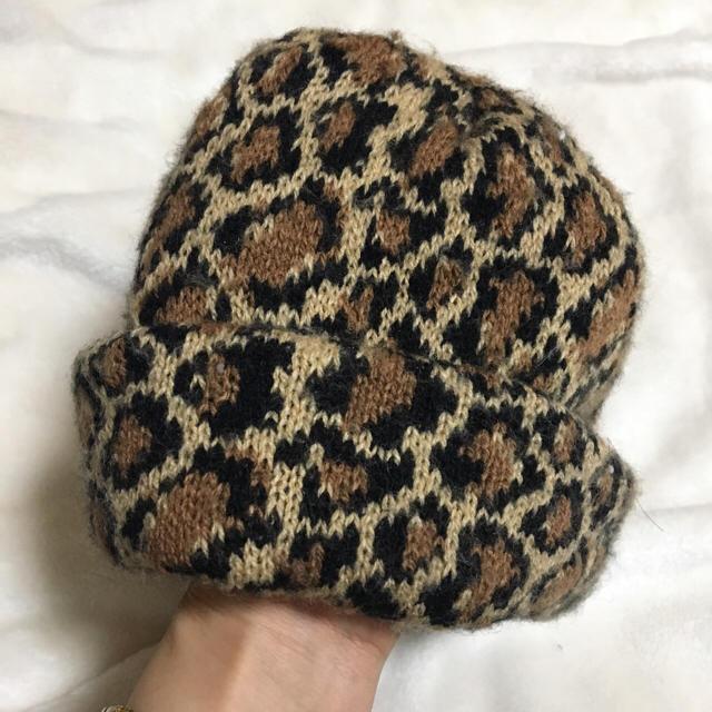 a03028434553d7 NEW YORK HAT(ニューヨークハット)のニューヨークハットのレオパード柄ニット帽 レディース