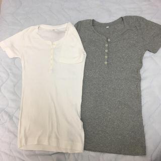 ムジルシリョウヒン(MUJI (無印良品))の【MUJI】&【UNIQLO】 Tシャツ4枚セット(Tシャツ(半袖/袖なし))