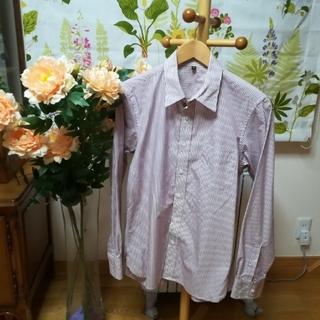 ムジルシリョウヒン(MUJI (無印良品))の✨良品計画 無印良品  赤茶色ストライプシャツ♪(シャツ)