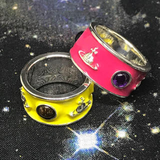 ヴィヴィアンウエストウッド(Vivienne Westwood)の美品 キングリング pink(リング(指輪))