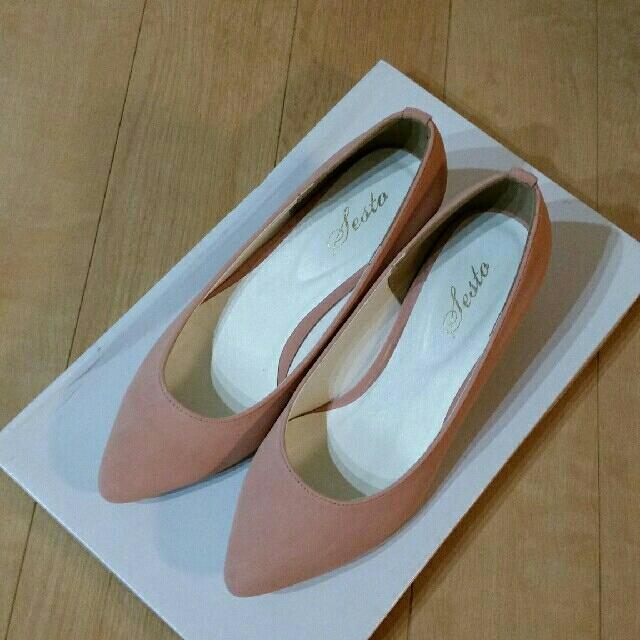 パンプス ピンク 未使用品 レディースの靴/シューズ(ハイヒール/パンプス)の商品写真