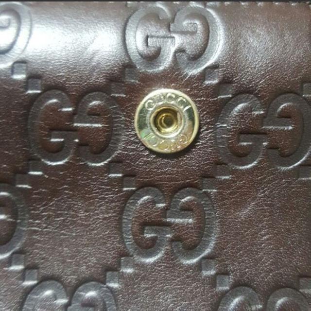 Gucci(グッチ)のGUCCI ブラウンレザー★長財布 グッチシマ メンズのファッション小物(長財布)の商品写真