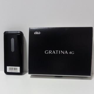キョウセラ(京セラ)の未使用 simフリー au GRATINA 4G KYF31 ブラック ガラホ(スマートフォン本体)
