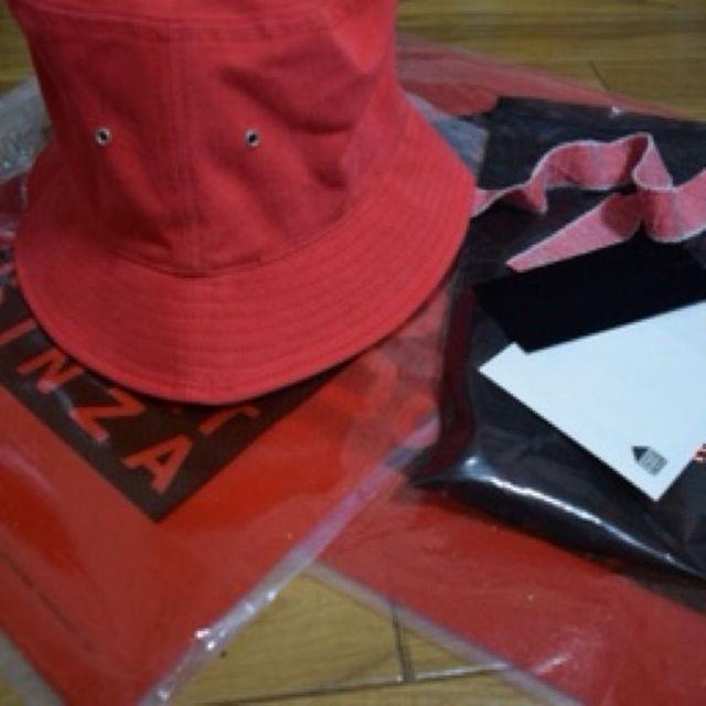確実正規品PEACEMINUSONE バケットハット赤 メンズの帽子(その他)の商品写真