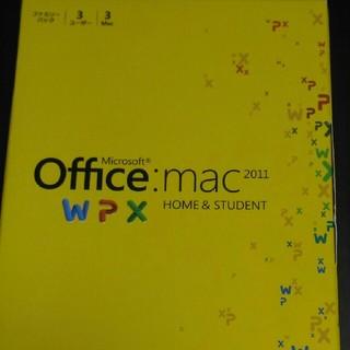 マック(MAC)のMicrosoft Office Mac Home&Student 2011(PC周辺機器)