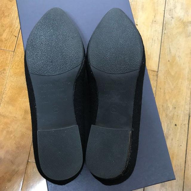 ORiental TRaffic(オリエンタルトラフィック)の美品 パンプス ブラック ORiental TRaffic ポインテッドフラット レディースの靴/シューズ(ハイヒール/パンプス)の商品写真