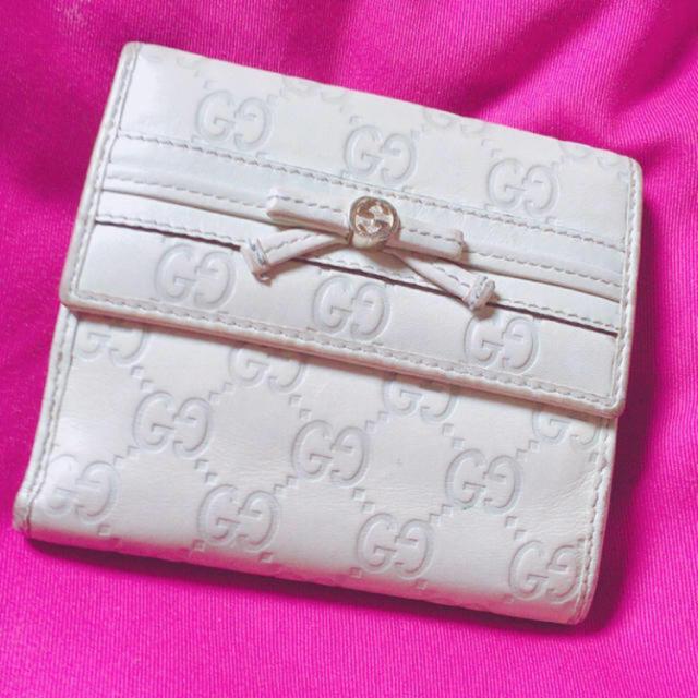25c087569e59 Gucci(グッチ)のGUCCIシマ財布リボン🎀グレージュ 激安 レディースのファッション小物