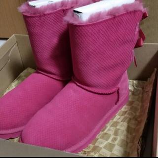 アグ(UGG)の新品 未使用 UGG おリボン ピンク ブーツ 8size(ブーツ)