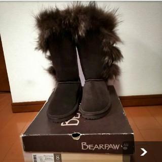 アグ(UGG)のBEA  PAW   ムートン フォックス 新品未使用USA8(ブーツ)