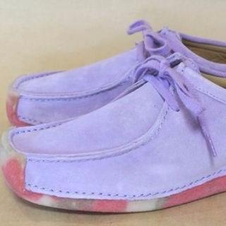 クラークス(Clarks)のクラークスナタリー限定色 Clarks Natalieライラック 23.5cm(ローファー/革靴)
