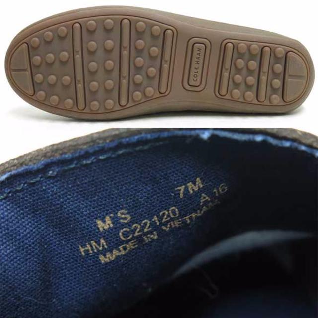 Cole Haan(コールハーン)のCOLE HAAN レザー コイン ローファー sizeM'S 7M ブラウン メンズの靴/シューズ(スリッポン/モカシン)の商品写真