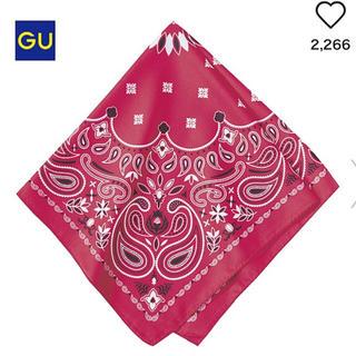 ジーユー(GU)の新品未使用 GU/ジーユー バンダナ スカーフ 赤(バンダナ/スカーフ)