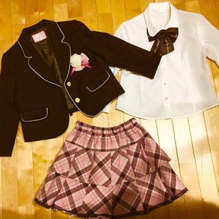 9f55b0136322b イオン(AEON)の入学式 女の子 制服 120 衣装 小学校 フォーマル(ドレス