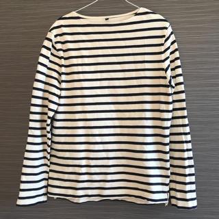 ムジルシリョウヒン(MUJI (無印良品))の無印良品 メンズ ボーダーカットソー(Tシャツ/カットソー(七分/長袖))