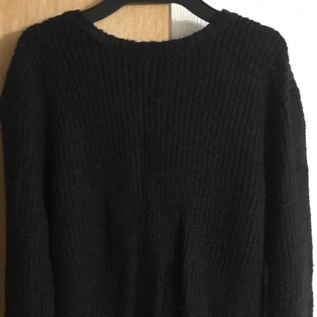 黒ニット メンズのトップス(ニット/セーター)の商品写真