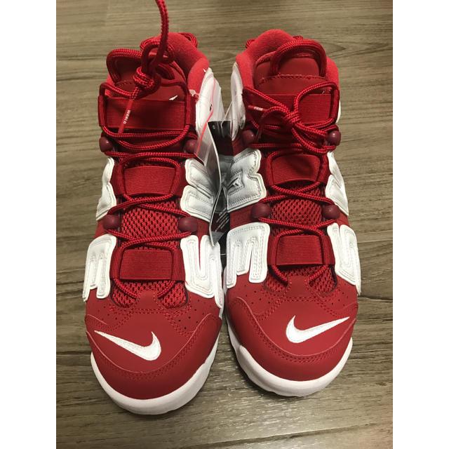 Supreme(シュプリーム)の新品国内正規 27cm 赤 シュプリーム モアテン ナイキ モア アップ テンポ メンズの靴/シューズ(スニーカー)の商品写真