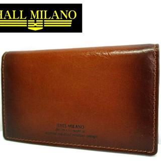 ハルミラノ(HALL MILANO)の新品◆HALL MILANO◆本革カード入れ◆軽量牛革カードケース◆キャメル(名刺入れ/定期入れ)