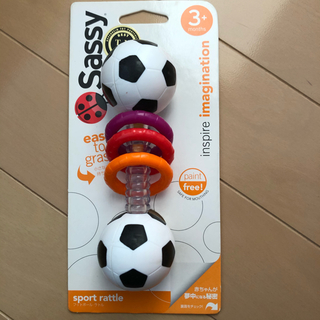 サッシー(Sassy)のサッシー ガラガラ サッカーボール(がらがら/ラトル)