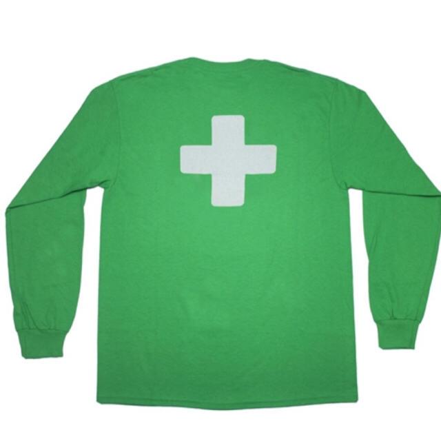 2サイズ places faces 新作 ロンT Tシャツ M.L グリーン メンズのトップス(Tシャツ/カットソー(七分/長袖))の商品写真