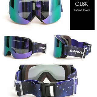 スワンズ(SWANS)の新品☆スワンズSWANSスノーボードゴーグルO-120MDH(GLBK黒ブラック(ウエア/装備)