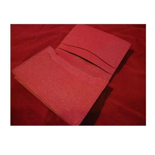新品 未使用 カード 名刺 ケース 5ポケット 赤 レッド ビジネス 定期入れ メンズのファッション小物(その他)の商品写真