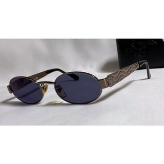 ジャンニヴェルサーチ(Gianni Versace)の正規美 ヴェルサーチ メデューサロゴ ブロンズメタル眼鏡 サングラス〇 付属品有(サングラス/メガネ)