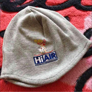 ヒステリックミニ(HYSTERIC MINI)のヒスミニ♡ベビー帽♡綿リブ スウェット素材♡Mグレー(帽子)