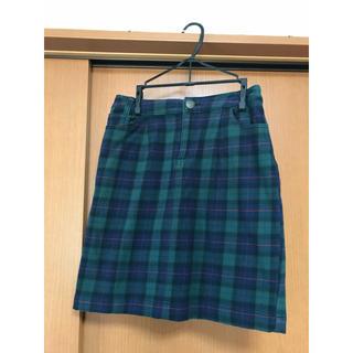 ローリーズファーム(LOWRYS FARM)の膝上チェックタイトスカート(ミニスカート)