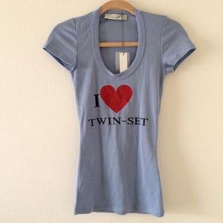 ツインセット(TWIN-SET)の【新品未使用】TWIN-SET♡Tシャツ(Tシャツ(半袖/袖なし))