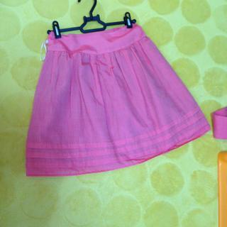イング(INGNI)のピンクのふんわりスカート(ひざ丈スカート)