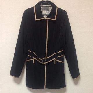 JAEGER ベルト付き ステンカラーパイピングコート