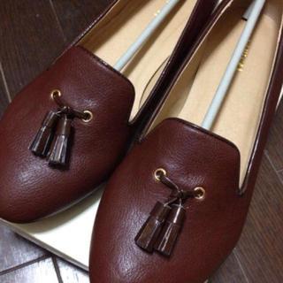ヘザー(heather)のヘザー*タッセル付パンプス(ローファー/革靴)