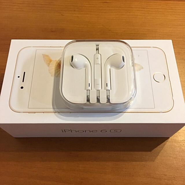 iPhone(アイフォーン)の新品未開封☆正規品 アイフォンiPhoneイヤホン スマホ/家電/カメラのオーディオ機器(ヘッドフォン/イヤフォン)の商品写真