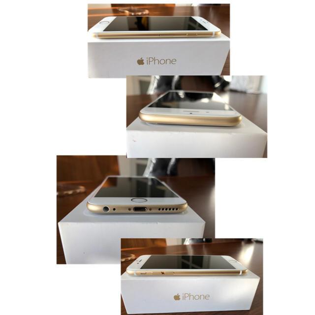 iPhone(アイフォーン)のiPhone6 64GB ゴールド 付属品未使用 スマホ/家電/カメラのスマートフォン/携帯電話(スマートフォン本体)の商品写真